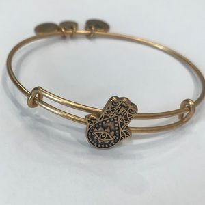 Gold Hand of Fatima Alex and Ani Bracelet